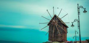 Historische Windmühle Stadt Nessebar